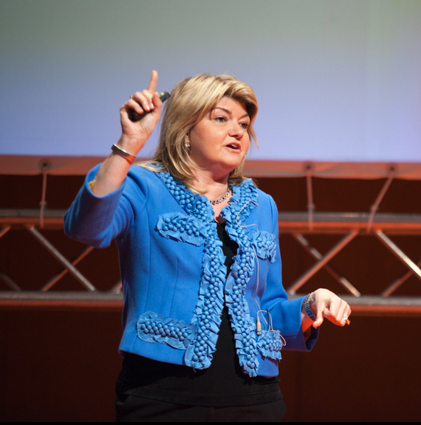 "Sandy Carter, IBM Vice President and author of ""Get Bold"" delivering her keynote at #SBF13"